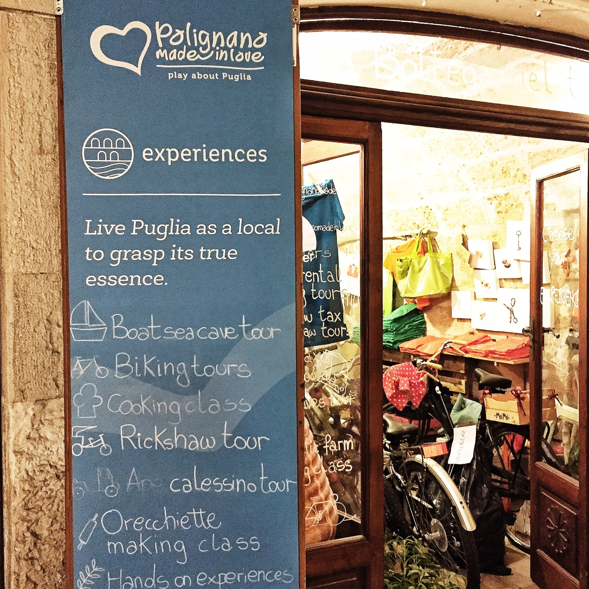 Polignano Made in Love, Bottega